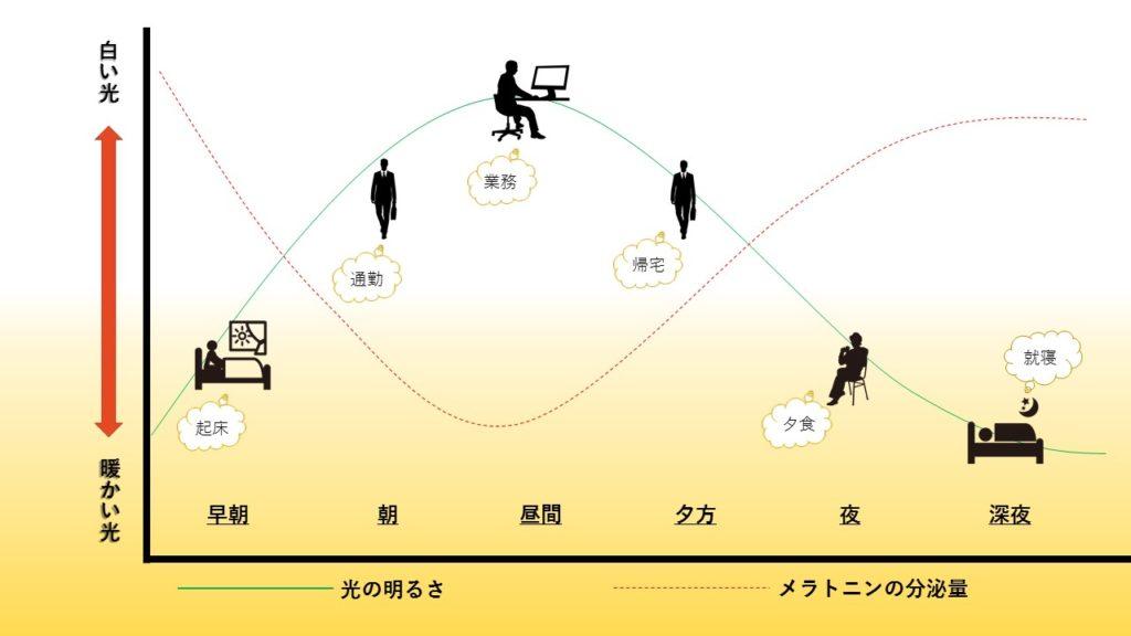体内時計(サーカディアンリズム)のグラフ